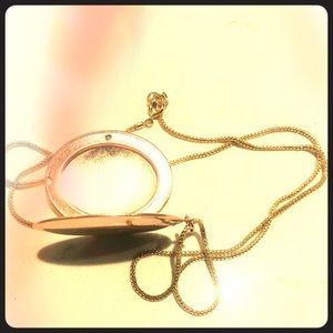 Rose gold locket necklace